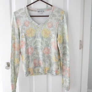 Wildfox Couture Floral Sweatshirt